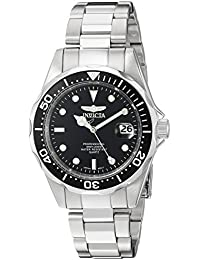 Men's 'Pro Diver' Quartz Stainless Steel Sport Watch, Color:Silver-Toned (Model: INVICTA-8932)