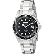 Men's 'Pro Diver' Quartz Stainless Steel Diving Watch, Color:Silver-Toned (Model: INVICTA-8932