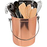 Sorbus Utensil Holder Caddy Crock to Organize Kitchen Tools - Great For Kitchen Accessories and Multi-Purpose – 1 Gallon Capacity (Copper)