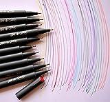 Fineliner Color Pen Set,0.38mm Colored Fine Line Point,Assorted Colors,10-Count