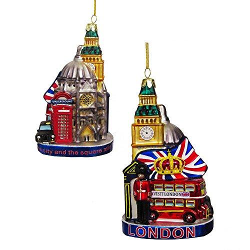 Kurt Adler London Cityscape Glass Ornament