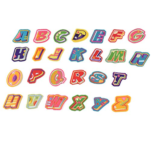 J.CARP 26Pcs Fruit Alphabet A to Z Patches, Iron on Sew on Letters for Clothing, Hats, Shoes, Backpacks, Handbags, Jeans, Jackets etc.
