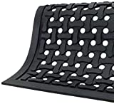 Andersen 420 Comfort Flow Nitrile Rubber Anti-Fatigue Indoor Floor Mat, 6' Length x 4' Width, 3/8'' Thick, Black