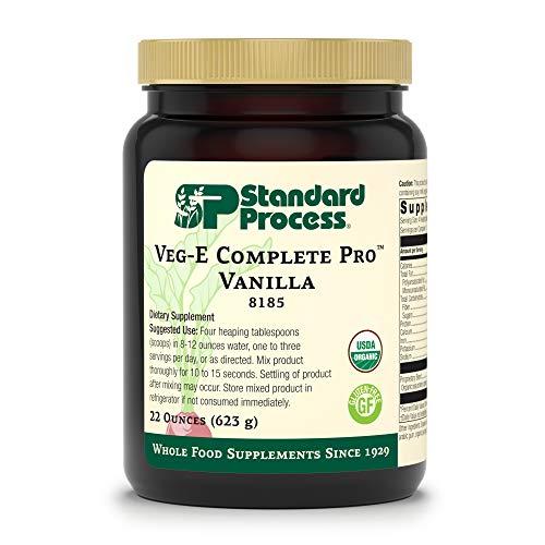 Standard Process – Veg-E Complete Pro Vanilla – Organic Plant-Based Protein Blend, 15 g Protein, Calcium, Iron, Potassium, Essential Amino Acids, Vegan, Gluten Free, Non-GMO – 22 oz.