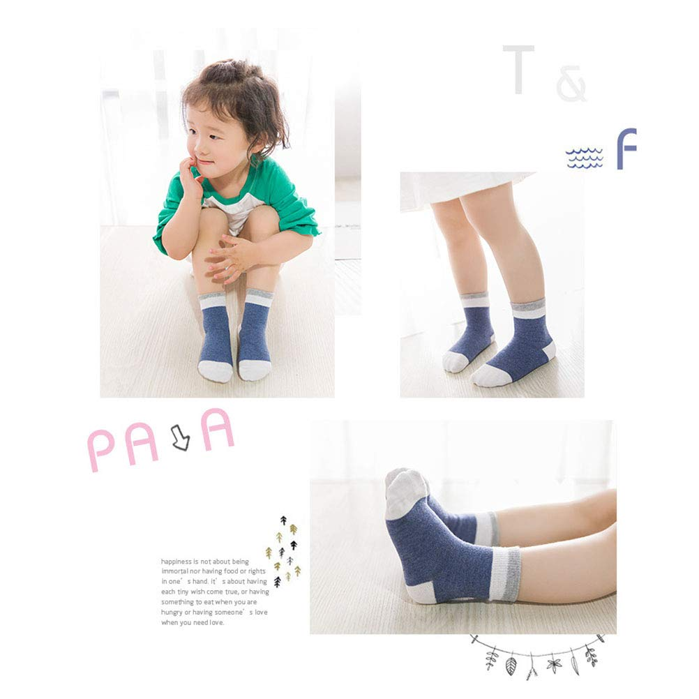 Dark Blue, Mixed Styles YEAHIBABY 5 Pairs Unisex Baby Boys Girls Newborn Cotton Socks for Kids 1-3 Year Old