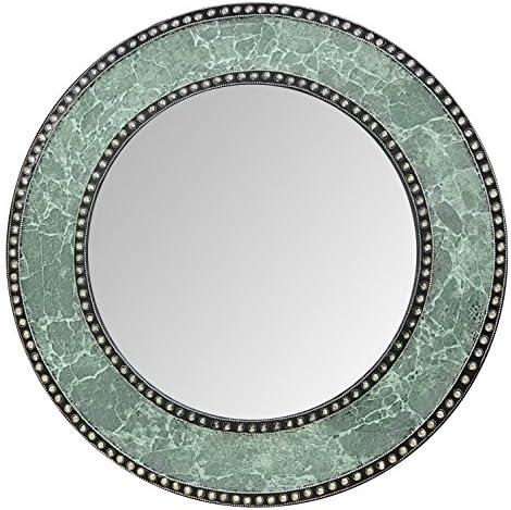 Decorshore 24 Silver Mosaic Crackle Design Mirror, Wall Mirror, Decorative Wall Mirror
