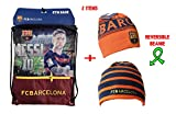 Fc Barcelona Gym Sack Bag Drawstring Backpack Cinch Bag Authentic Official Messi 10 (NAVY)