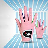 PGM Microfiber Unisex Junior Golf Gloves, Pink and White Color for your choice,pack of 1 pair