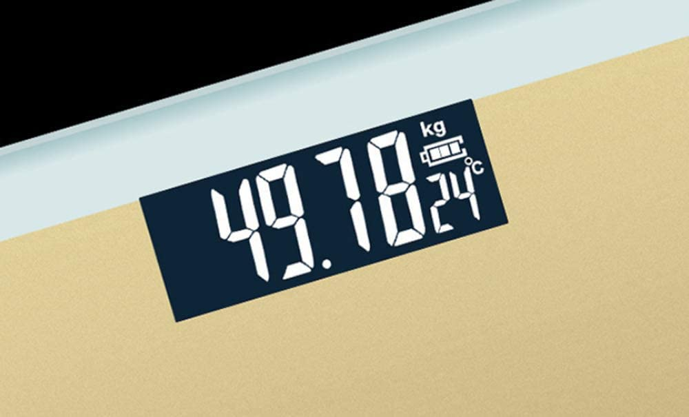 AA-SS Bathroom Digital Weighing Scale - Large Capacity 180kg / 400lb / 30st - High Precision, Step Backlit LCD Display Silver