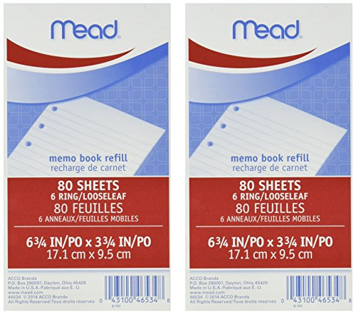 80 Count Refill - MeadWestvaco 46534 3-3/4