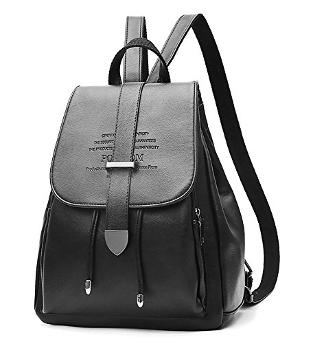 00c7abd35f EssFeel Stylish Leather Backpack School Travel Daypack Casual Style Backpack  Knapsack for Women Girl