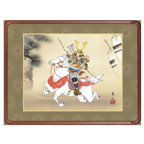 掛け軸 掛軸 インテリア 第二十五集 五月人形 若武者 洛彩緞子額表装 榎本東山 竹翠会 h25-snk-f6-176 B00GJBPLOO