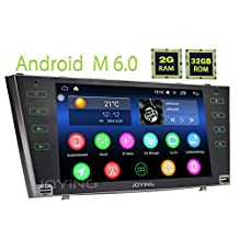 JOYING 9'' Android 6.0 Marshmallow 2GB Quad Core for Toyota Camry 2006-2011 Car Radio Double 2 Din Stereo Head Unit Receiver Capacitive Touch screen Tablet Support AM/FM/RDS Easy Connect Bluetooth Hands-free Phone Call GPS Navigation