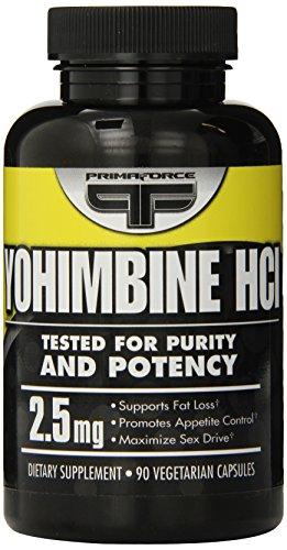 PrimaForce, Yohimbine HCl poids perte Capsules, comte 90