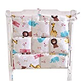 Cute Cartoon Baby Crib Hanging Diaper Bag Storage Bag Baby Room Decor,Animal