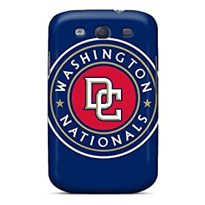 Bumper Hard Phone Covers For Samsung Galaxy S3 (iKG7517kciG) Support Personal Customs Stylish Washington Nationals Pattern