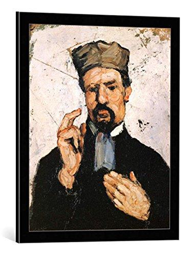 (kunst für alle Framed Art Print: Paul Cézanne The Uncle - Decorative Fine Art Poster, Picture with Frame, 21.7x25.6 inch / 55x65 cm, Black/Edge Grey)
