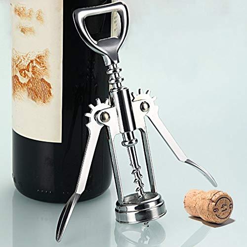 JICHUI Botella 1pc Acero Inoxidable abridor de Metal Camarero del sacacorchos del Vino de la Botella abridor Sacacorchos manija 16 x 5,5 X3.5cm