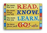 Dr Seuss 2-Sided Poster -Read Know Learn Go, Think Left and Think Right
