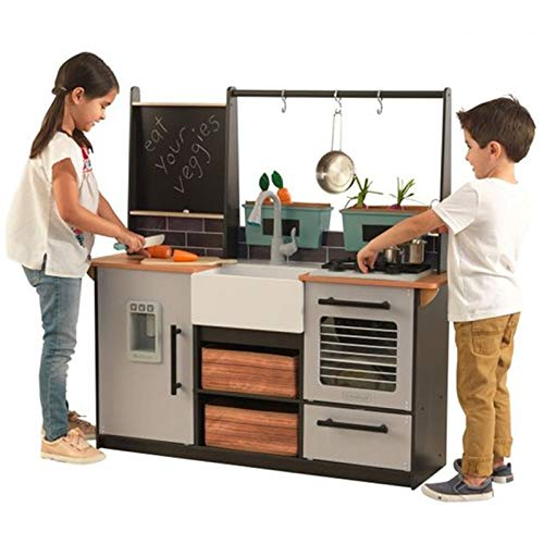 KidKraft Farm to Table Play Kitchen Set, Large, Multicolor (Kitchenette Sets Table)