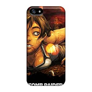 LastMemory Awesome Case Cover Compatible With Iphone 5/5s - New Tomb Raider Art
