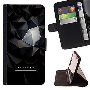 Momo Phone Case / Flip Funda de Cuero Case Cover - 3D Polígono Texto arte oscuro - Samsung Galaxy J1 J100