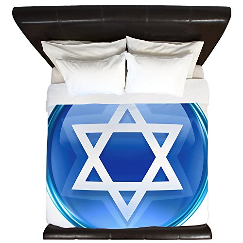 King Duvet Cover Blue Star of David Jewish by Royal Lion