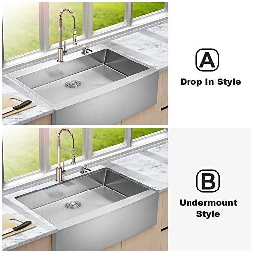 Farmhouse Kitchen 33 Drop In Farmhouse Sink – Lordear 33 Inch Farmhouse Sink Drop-in Topmount Apron Front 16-Gauge Stainless Steel Deep… farmhouse kitchen sinks