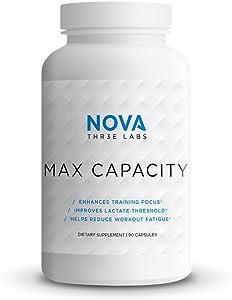 NOVA Three Labs | Max Capacity | Enhance Mental Focus and Ventilatory/Lacate Threshold | 30 Servings