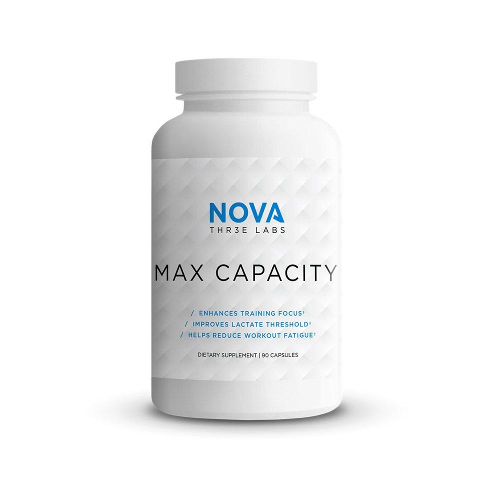NOVA Three Labs | Max Capacity | Enhance Mental Focus and Ventilatory/Lacate Threshold | 30 Servings by NOVA Three Labs