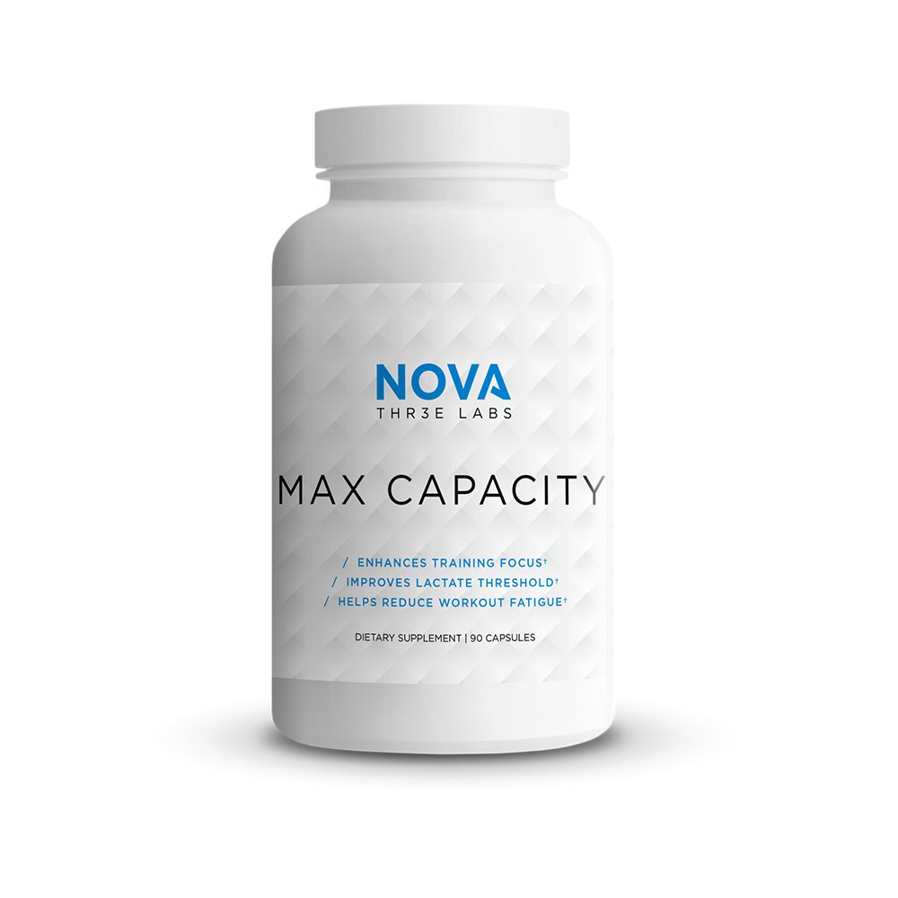 NOVA Three Labs | Max Capacity | Enhance Mental Focus and Ventilatory/Lacate Threshold | 30 Servings