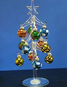 Amazon.com: Mini Crystal Christmas Tree with Festive Ball ...