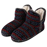 Forfoot Womans Girls Warm Winter Comfy Indoor Bedroom House Boot Slippers Relaxed Shoes US Women's Slipper Size 8, Blue Red