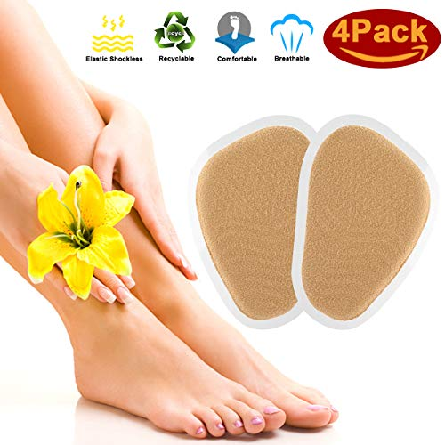 Metatarsal Pads, Ball-of-Foot Cushions pad 4 Piece, Forefoot Pads Cushions High Heel Shoe Cushions Inserts Insoles, Pads for Foot Health Care Rapid Pain Relief Women Men