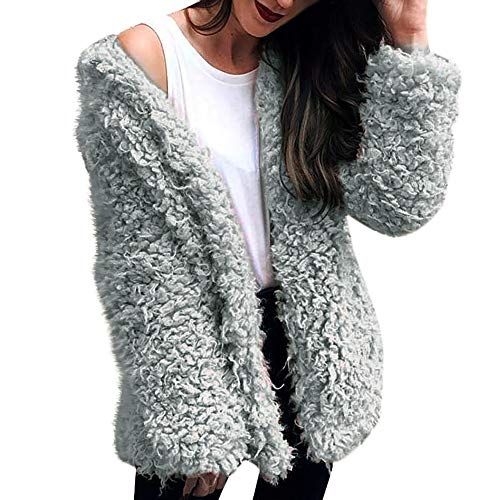 vermers Clearance Womens Fashion Warm Faux Fur Coat - Ladies Winter Casual Solid Hooded Parka Outerwear Clothes(US:10/M, (Acrylic Spandex Plaid Pattern)