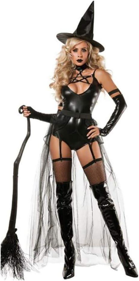 SHANGXIAN Halloween Bruja Disfraz para Mujeres Adultas Sexy ...