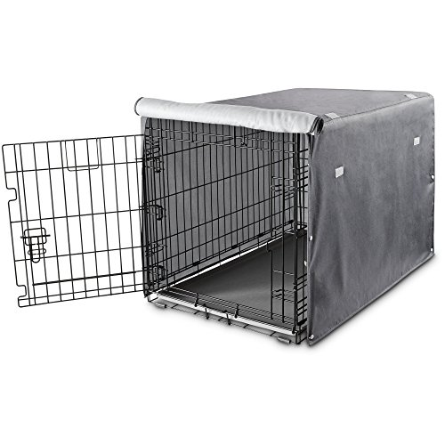 - You & Me Dog Crate Cover in Grey, 37