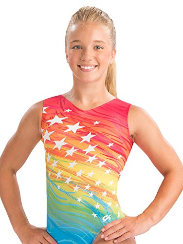 GK Rainbow Superstar Gymnastics Leotard
