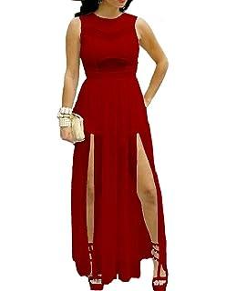 88343e9544 Red Dot Boutique 6630 - Plus Size Double Slits Lace Chiffon Jumpsuit Maxi  Dress