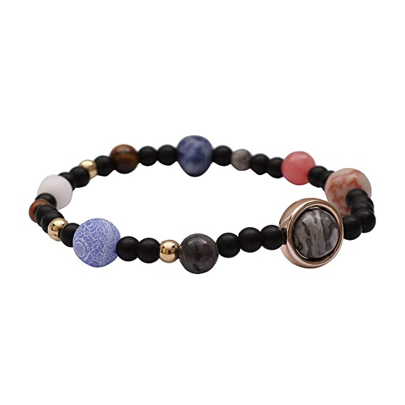 Amazon.com: Psunrise Pulsera Men Women Natural Stone Milky ...