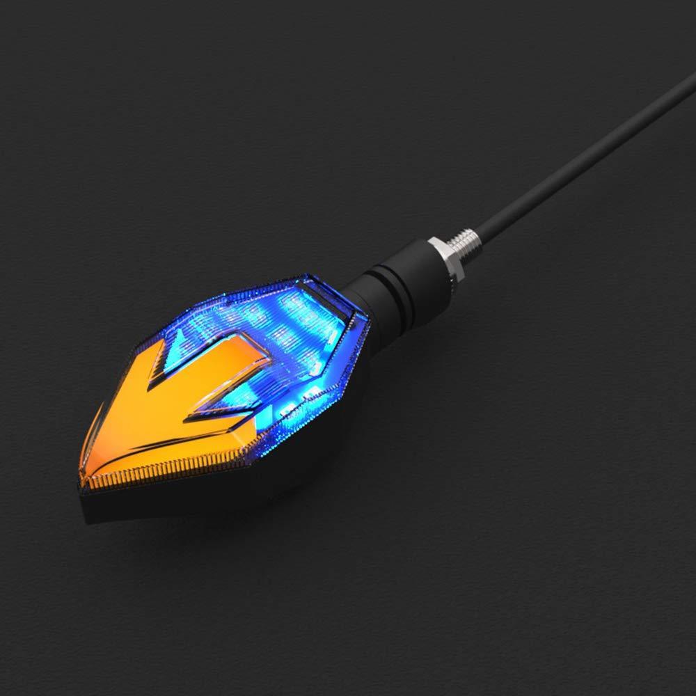 Blu KKmoon 2 Pezzi Moto Universale LED Indicatori di Direzione Lampeggianti Illuminazione Accessori Moto Indicatori Luce Lampeggiante