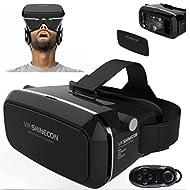 3d VR Lunettes, 3d VR casque Boîte de réalité virtuelle avec lentille réglable et sangle pour iPhone SE 55S 6S Plus 7Plus Samsung Galaxy S34567Note Edge Plus, 3.5–15,2cm Smartphone pour 3d Films et jeux