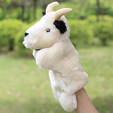 Ogquaton Premium Cute Goat Puppet Hand Kids Baby Development Soft Doll Estilo de juguete de felpa 1