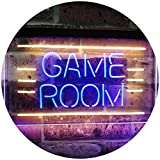 AdvpPro 2C Game Room Man Cave Bar Display Dual Color LED Neon Sign Blue & Yellow 12'' x 8.5'' st6s32-i2338-by