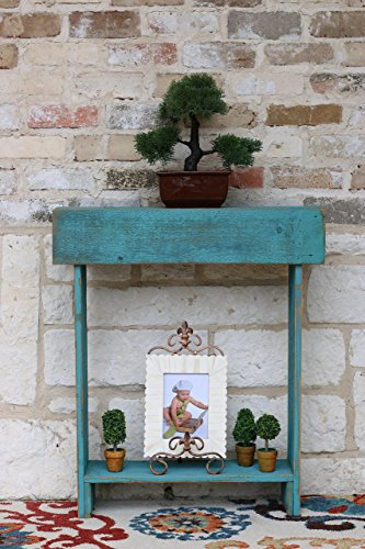 Turquoise Skinny Wall Table