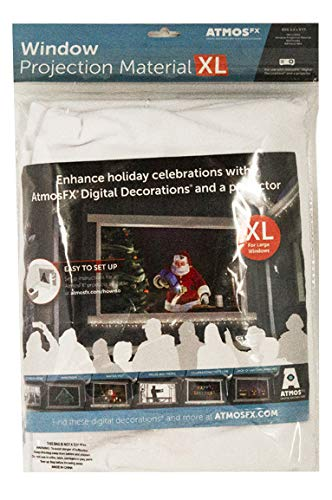 AtmosFX Window Projection Material XL, 9 Foot by 5.5 Foot Fabric Screen for Holiday Decorating on Halloween, Christmas, Birthdays, and -