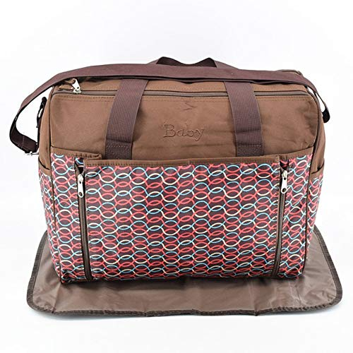 Large Capacity Slung Over A Mummy's Bag Double Zip Mom Bag New Mother And Baby Out Bag Coffee