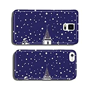 Winter Church at Night cell phone cover case Samsung S5