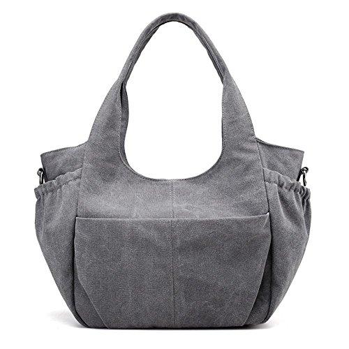 Bolso de moda Bolso de doble bolsillo de moda Bolso Messenger Messenger Grey