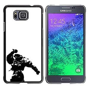 CASEX Cases / Samsung GALAXY ALPHA G850 / Master Chief - Hal0 # / Delgado Negro Plástico caso cubierta Shell Armor Funda Case Cover Slim Armor Defender